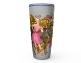 "20 oz ""THE BUCK'N QUEEN"" HOT OR COLD STAINLESS STEEL TRAVEL TUMBLER"