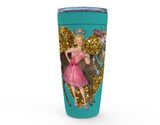 "20 oz ""THE BUCK 'N QUEEN"" (NO VERBIAGE) HOT OR COLD STAINLESS STEEL TRAVEL TUMBLER"