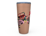 20 oz JEEPSY SOUL TRAIL OF ROSES HOT OR COLD STAINLESS STEEL TRAVEL TUMBLER