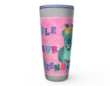 "20oz ""RULE YOUR QUEENDOM"" HOT OR COLD STAINLESS STEEL TRAVEL TUMBLER"