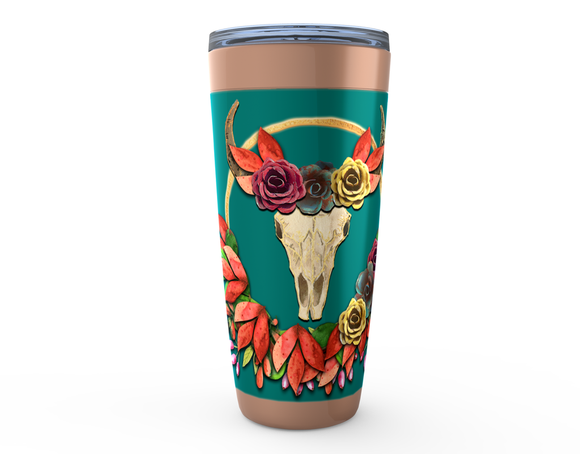 STEER INTO FALL 20oz HOT OR COLD STAINLESS STEEL TRAVEL TUMBLER MUGS