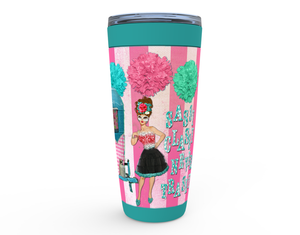 "20oz ""SASSY CLASSY NEVER TRASHY"" HOT OR COLD STAINLESS STEEL TRAVEL TUMBLER"