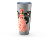 "20oz ""FLY ~ GROW ~ WINGS"" HOT OR COLD STAINLESS STEEL TUMBLER"