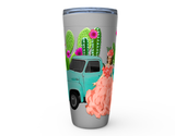 20oz  BE A FLOWER AMONGST PRICK'S HOT OR COLD STAINLESS STEEL TRAVEL TUMBLER