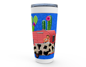 "20oz ""CACTUS PARADISE"" HOT OR COLD STAINLESS STEEL TRAVEL TUMBLER"