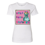 """RULE YOUR QUEENDOM"" BOYFRIEND COTTON T SHIRT"