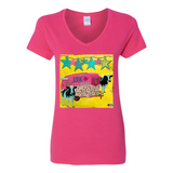 """MOO JUNK WAGON"" V-NECK COTTON T-SHIRT"