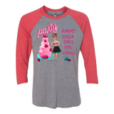 """SASSY GIRL'S TAKE THE CAKE"" 3/4 SLEEVE T-SHIRT"