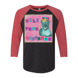 """RULE YOUR QUEENDOM"" 3/4 SLEEVE RAGLAN T SHIRT"