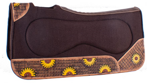 "SUNFLOWER TOOLED AND PAINTED SIDE WARES FELT  ""BUILD UP"" PAD"