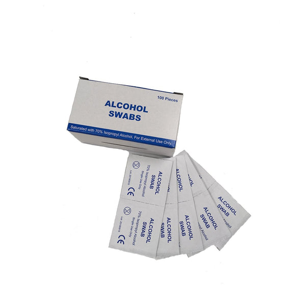 Pre-Injection Alcohol Swabs Pk100, Case of 100