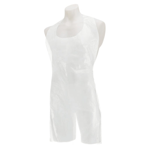 Single Use Disposable White Apron Pk/100, Case of 5