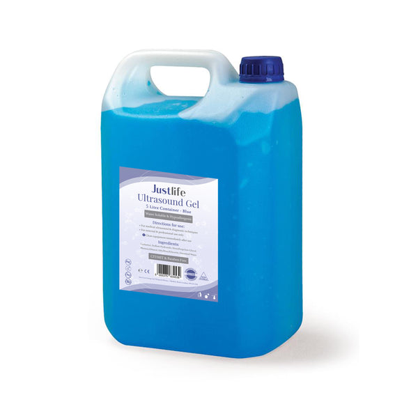 Justlife Ultrasound Gel 5 Litre Container (Blue), Case of 2