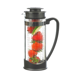 Atlantis Large 50-ounce Glass Water Fruit Herb Infuser Water Pitcher