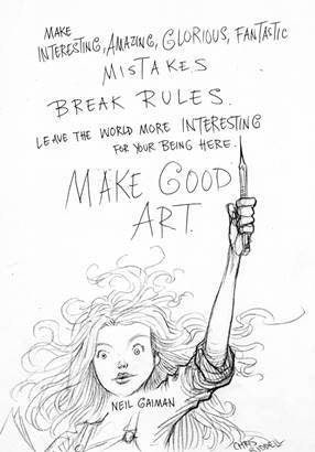 Neil Gaiman's Art Matters: Because Your Imagination Can Change the World