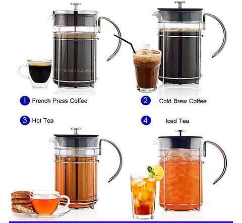 Madrid 4-in-1 Coffee and Tea Brewing System — By Grosche