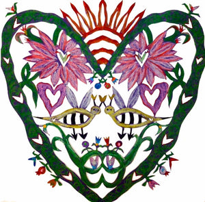 ARTIST HANDCRAFTED – Dana's Hand-Cut, Hand-Colored Heart Full Heart No. 3