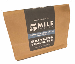 ARTISAN-CRAFTED — Organic Bean-to-Bar Drinking Chocolate — From 5 Mile Chocolate