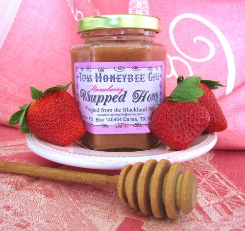 Strawberry Whupped Honey Texas Honeybee Guild