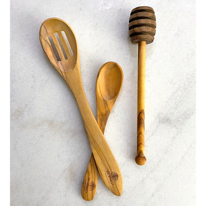 Berard 3-piece Olive Wood Life's Little Pleasures Kitchen Utensil Set — Created in France