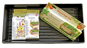 GROW YOUR OWN INDOOR/OUTDOOR BEE & BIRD FRIENDLY GARDENING KIT — WITH ORGANIC AND NON-GMO SEEDS FROM BOTANICAL INTERESTS