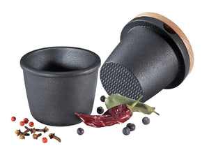 Cast Iron Spice Grater with Beechwood Lid