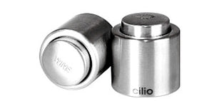 18/10 Brushed Stainless Steel Champagne Sealer by Cilio