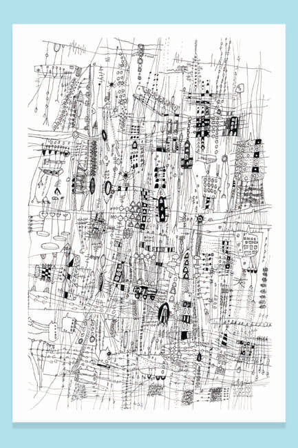 ORIGINAL ART - City Life - Art Print