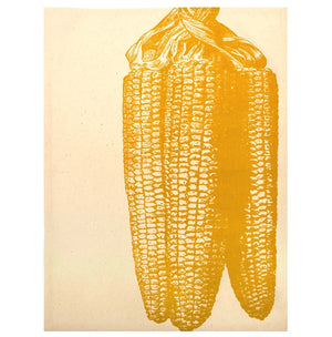 Set of 2 Simrin Hand-screened, Hand-Sewn Corn on the Cob Dish Towels