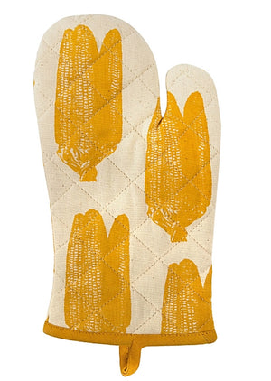 Simrin Hand-Screened, Hand-Sewn Corn Oven Mitts