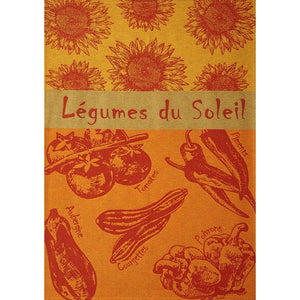 Coucke Légumes Soleil (Vegetables of the Sun) French Cotton Jacquard Tea Towel
