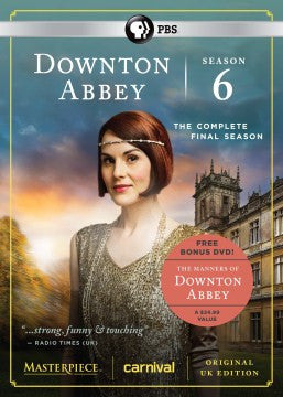 Downton Abbey Season 6 DVD Set with Manners of Downton Abbey Bonus DVD