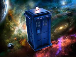 Dr. Who's TARDIS in space