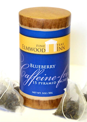BLUEBERRY CAFFEINE-FREE INFUSION TEA - 15 PLANT-BASED PYRAMID SACHETS  — CRAFTED BY ARTISANS AT ELMWOOD INN FINE TEAS