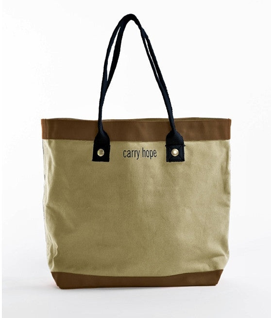Esperos Flax Market Tote with Detachable Carry Case