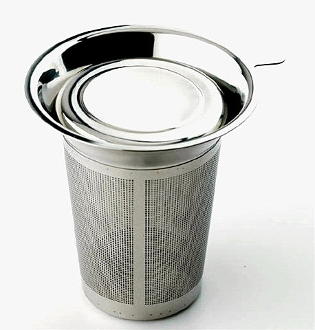 Easy Clean, Stainless Steel Tea Infuser/Filter with Lid — By Frieling