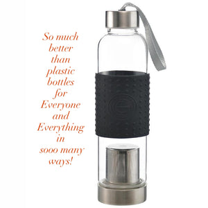 Water, Tea and Coffee Marino Travel Infuser in Black - 18.6 ounces — By GROSCHE