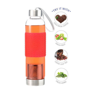 Water, Tea and Coffee Marino Travel Infuser in Red - 18.6 ounces — By GROSCHE