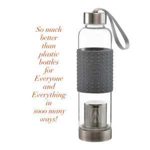 WATER, TEA AND COFFEE MARINO TRAVEL INFUSER IN GRAY - 18.6 OUNCES — BY GROSCHE
