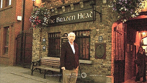 Frank McCourt, host of Historic Pubs of Dublin, at the 800+year-old Brazen Head