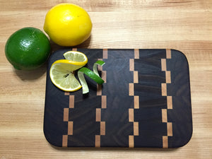 EDGE OF THE WOOD — Walnut and Maple Inlaid End-Grain Cutting Board