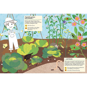 In the Vegetable Garden: My Nature Sticker Activity Book - Science Activity and Learning Book for Kids With Coloring, Stickers and Quiz