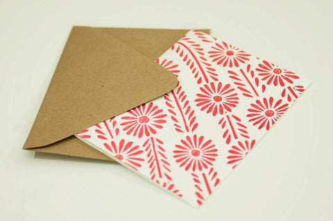Katharine Watson Hand-Carved Block Cut Handprinted Box of 6 Cards