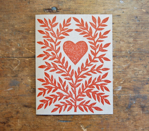 Katharine Watson Hand Cut Handprinted Tis the Season for Love Set of 6 Cards