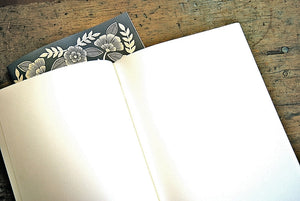 Original Hand Craved Block Cut Handprinted Set of 2 Journals