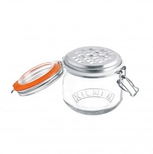 Kilner Clip Top Jar with Grater — 17 Fluid Ounces