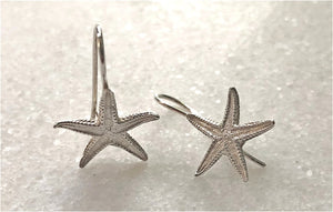 HANDCRAFTED IN SARDINIA - Mare Collection Sea Star Sterling Silver Earrings (LARGE) for Pierced Ears — BY KOKKU