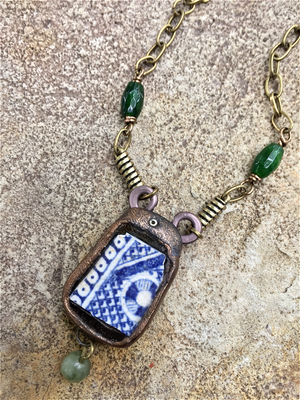 Antique Pottery Shard Necklace