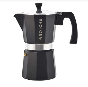 Black Milano Italian 6-Cup Stovetop Espresso Coffee Maker / Moka Pot — By GROSCHE