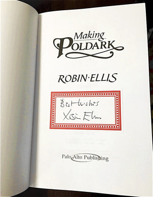 Example of Robin Ellis autographed copy of Making Poldark